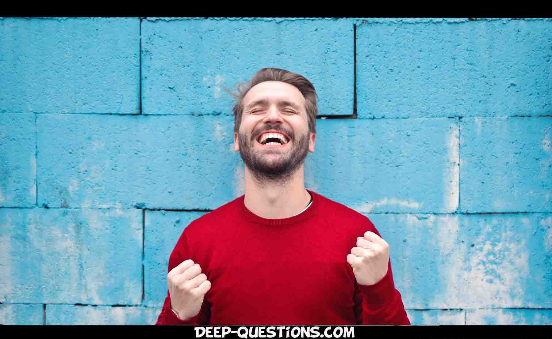 smiling guy on funny questions to ask a guy