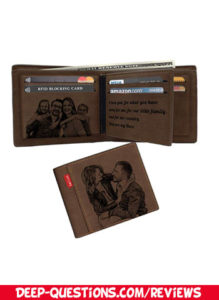 Custom Engraved Wallet, Personalized Photo Monogram RFID Wallets reviews