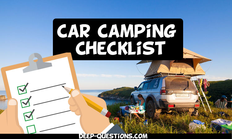 Car Camping Checklist that You Must Check Before Leaving Home!